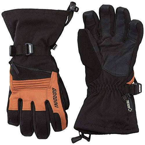 Gordini Stretch Gloves - Gordini Men's GTX Storm Tropper II Core Glove (Black/Tan, Medium)