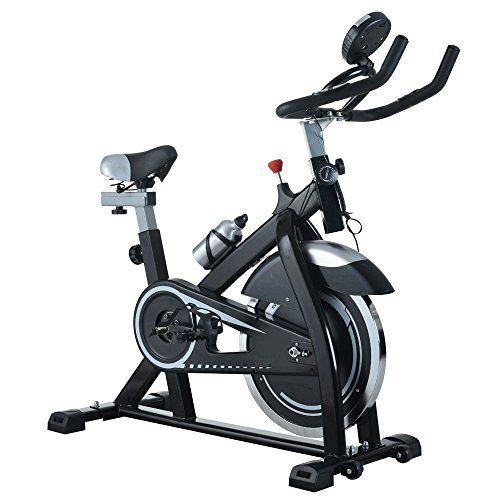 Cardio Fitness Stationary Exercise Bike, Cycle Trainer Indoor Cardio Fitness Bicycle 15KG Flywheel by Unknown