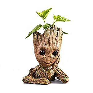 Baby Groot,Cartoon Flower pots Baby Action Figures Cute Model Toy Pen Pots for Kids