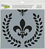 The Crafter's Workshop TCW800 Laurel Wreath Template, Multicolor