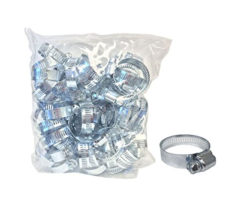 50-Pack Hose Clamps (13/16'' to 1-3/4'') by EZ Travel Collection