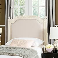Safavieh Home Collection Tufted Linen Rustic Antique Beige Headboard (Full)