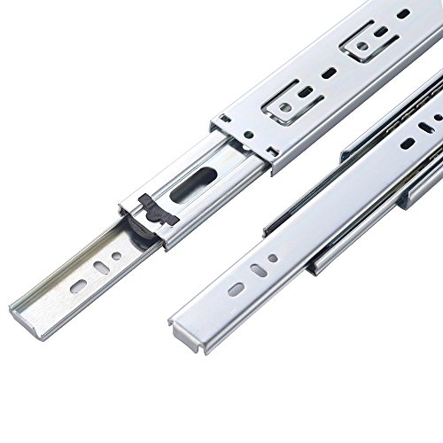"""KINGO Home 2 Pair of 18 inch Full Extension Stainless Steel Hardware Ball Bearing Side Mount Drawer Slides, Available in 10'' 12'' 14'' 16'' 18"""" 20"""" Lengths by KINGO HOME (Image #3)"""