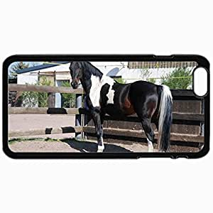 Customized Cellphone Case Back Cover For iPhone 6, Protective Hardshell Case Personalized American Wormblood Black