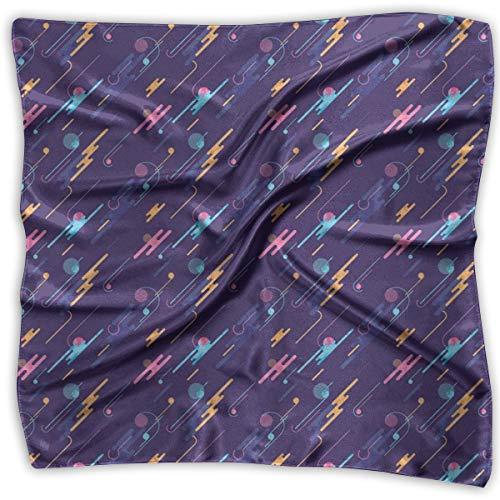 Bandana Head and Neck Tie Neckerchief,Futuristic Dynamic Abstract Composition Dots And Lines Retro Fun,Headband