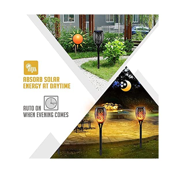 51tWJY9aqUS 4 Stück Solarleuchten Garten Außen, Swonuk Solar Flammenlicht mit Wasserdicht IP68, Gartenleuchten mit Realistischen…