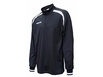 ATELIER DEL RICAMO Camiseta Portero Fútbol Manga Larga Macron Grid Jersey, Hombre, Negro y