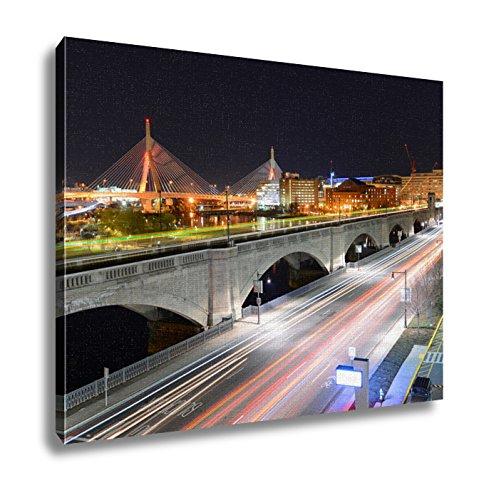 Ashley Canvas, Boston Zakim Bunker Hill Bridge Usa, 20x25