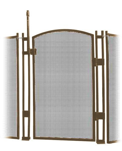 VisiGuard Self-Closing/Latching Pool Fence Child Safety Gate 4' Tall (Brown) by Sentry Safety Pool Fence