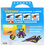 Kangaroos Flying Paper Airplanes; (32-Count) Valentines Day Cards For Kids