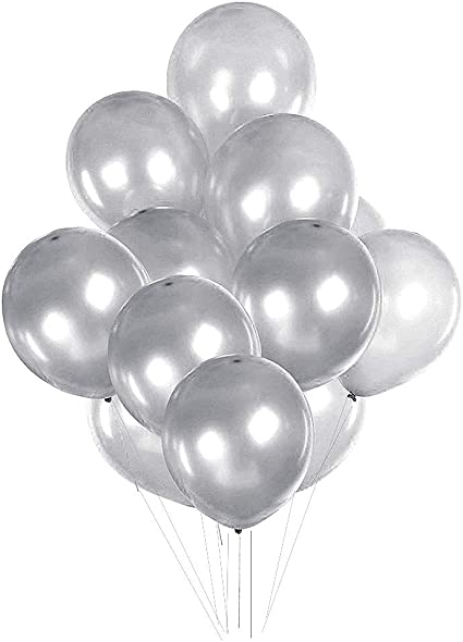 4 white just married /& 4 silver love is in the air Pack of 8 Wedding Balloons