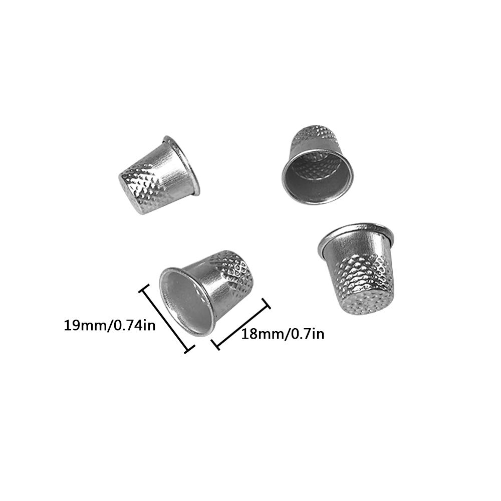 50 PCS Silver Metal Sewing Quilting Thimbles for DIY Craft Finger Protector
