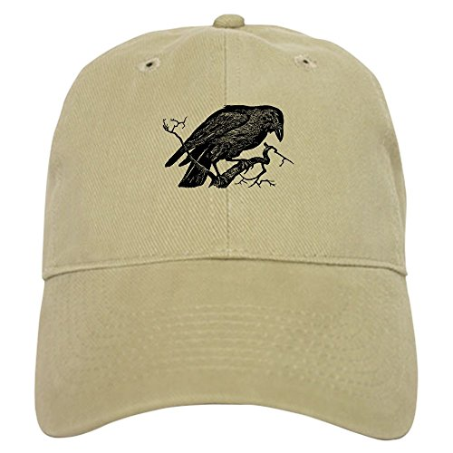 CafePress Vintage Raven in Tree Illustration Baseball Cap with Adjustable Closure, Unique Printed Baseball Hat -