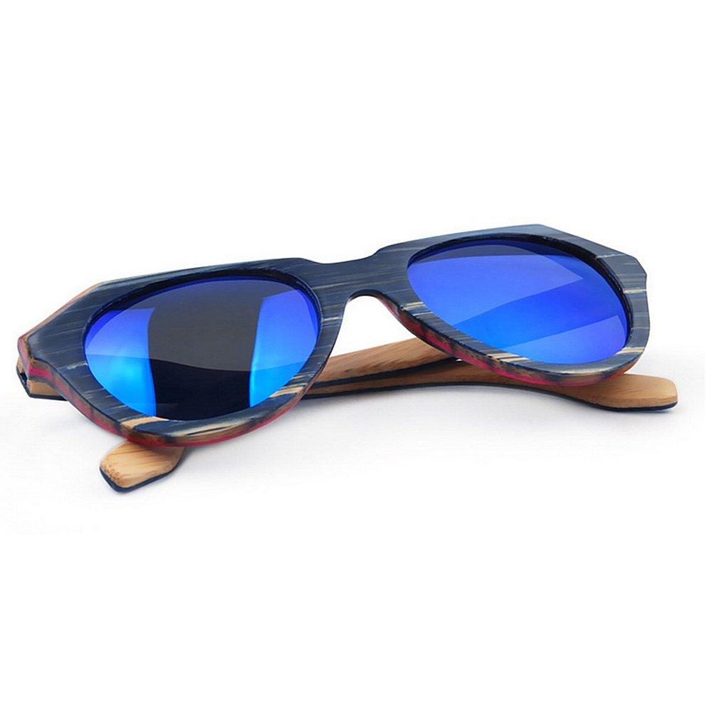 c12d7b336c Uiophjkl Lentes Planos espejados Gafas de Sol polarizadas de Madera de la  Personalidad Color Irregular de Las Mujeres Gafas de Sol Hechas a Mano de  la ...