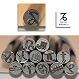 Kent 9.0mm CAPRICORN Zodiac Symbol Metal Punch Stamps, Sold Individually