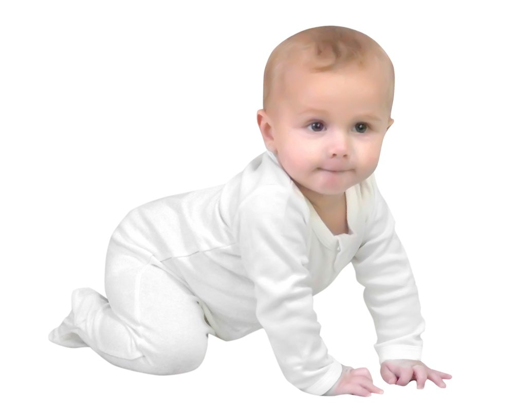Owlivia Baby Organic Cotton Zip-Up Sleep N Play (0-3 Months, Off-White) by Owlivia (Image #1)