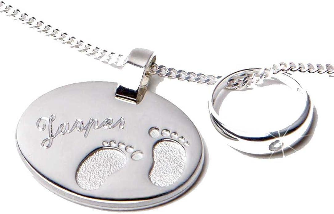 Taufring Anhänger mit Herz Echt Silber Baby Taufschmuck Taufkette Taufgeschenk