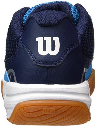 Wilson Storm Hawaiian o/Ny/Wh 4.5, Scarpe da Tennis Unisex-Adulto, Blu (Hawaiian Ocean/Navy/White), 37 2/3 EU