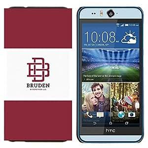 EJOOY---Cubierta de la caja de protección para la piel dura ** HTC Desire Eye M910x ** --universidad marrón Logotipo de la marca del estudiante