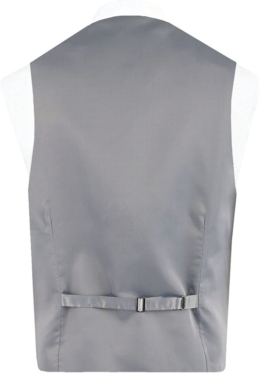 Alexander Dobell Dobell Mens Formalwear Smart Regular Fit Silver Easy Care Waistcoat 5 Button
