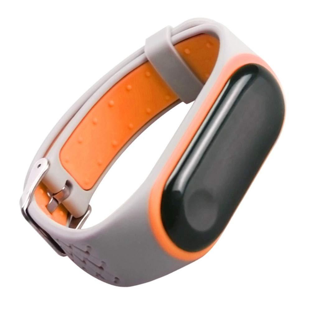 para Xiaomi Mi Band 3 Smart Watch Reemplazo de Banda de Silicona Suave Deportiva Pulsera de Repuesto Durable Reemplazo Silicona Anti-Off Pulsera: Amazon.es: ...