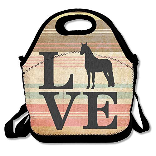 Farm Animal, Love Horses Lunch Bag Lunch Tote]()