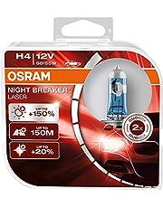 طقم لمبات اوسرام H4 نايت بريكير ليزر 150%