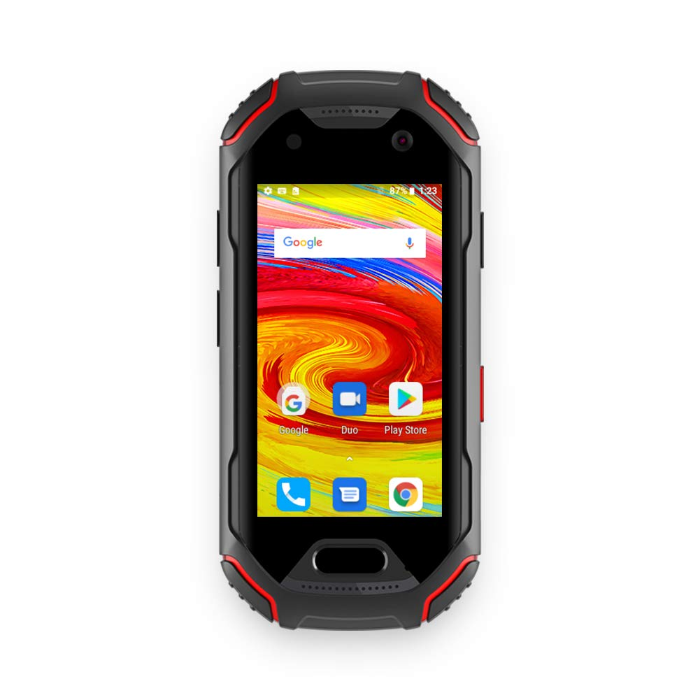 Unihertz Atom, The Smallest 4G Rugged Smartphone in The World, Android 9.0 Pre Unlocked Smart Phone with 4GB RAM and 64GB ROM
