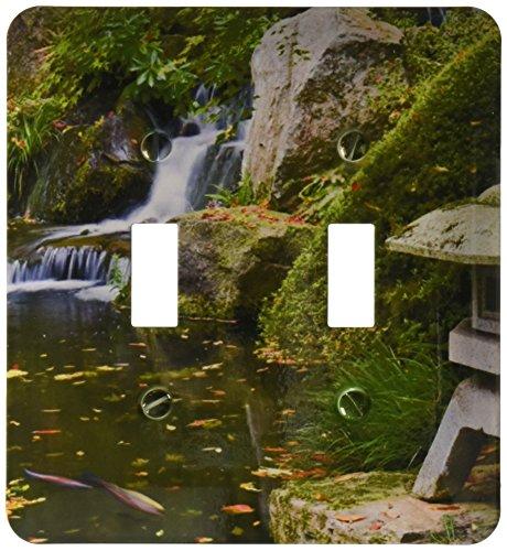 3dRose LSP 93676_ 2USA, Oregon, Portland Koi estanque, jardín japonés US38bja0661Jaynes galería Interruptor de la...