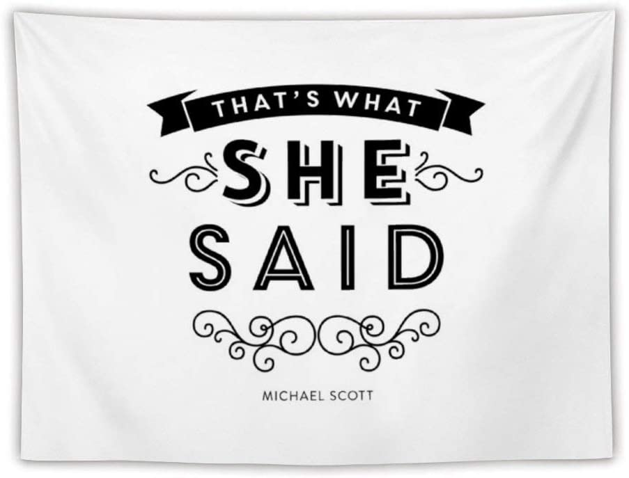 The Office - That's What She Said (Bw Version) Apron Wall Tapestry Apestry Album 3D Wall Hanging Art Home Decor Wave Tapestries