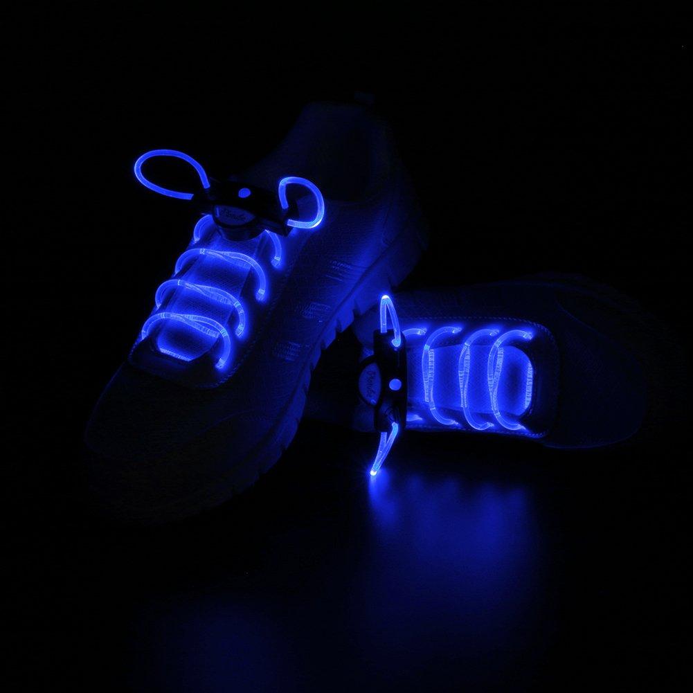 LOHASIC Schnü rsenkel LED, Beleuchten Blinklicht Schuhbä nder fü r Nachtzeitaktivitä t Beleuchten Blinklicht Schuhbä nder fü r Nachtzeitaktivitä t Blau
