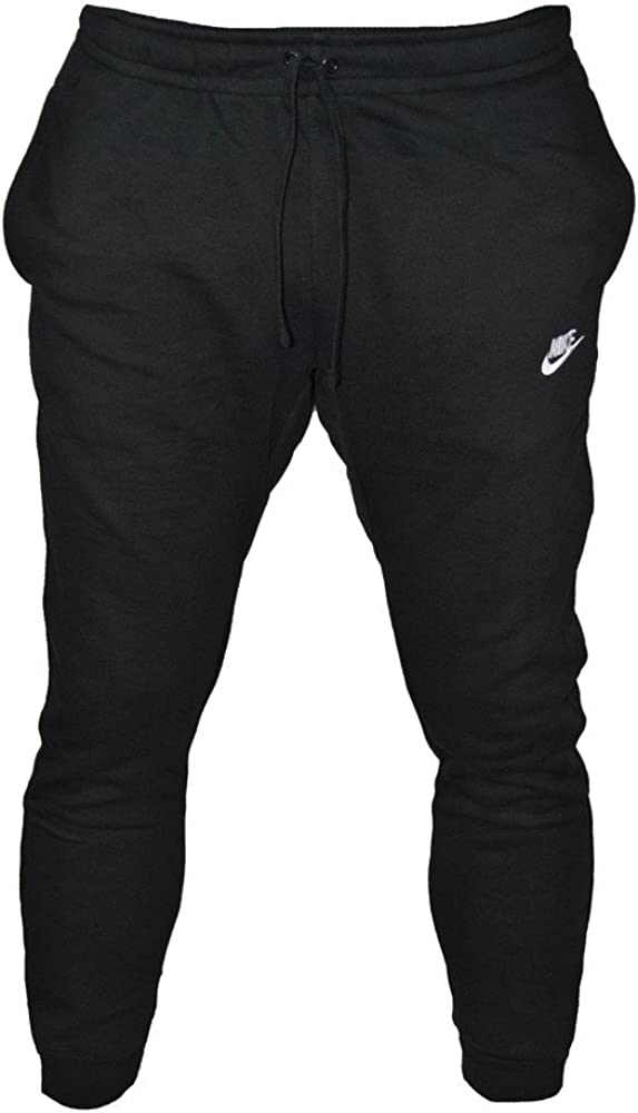 Nike M NSW Jogger FT Club Pants, Hombre, Negro (Black/White ...