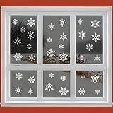 42 Snowflake Window Stickers