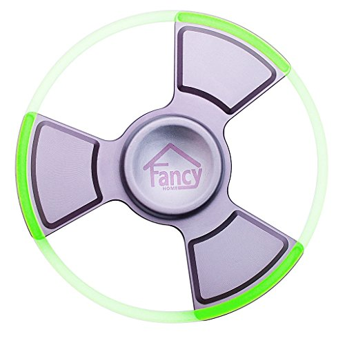 Fancy Home Anti-Anxiety Quiet Tri Fidget Hand Spinner EDC Toy for Relief from ADD ADHD, Anxiety and Boredom,Ceramic Bearing Last 5-8 Minutes Glow in The Dark Silver by Fancy Home (Image #2)