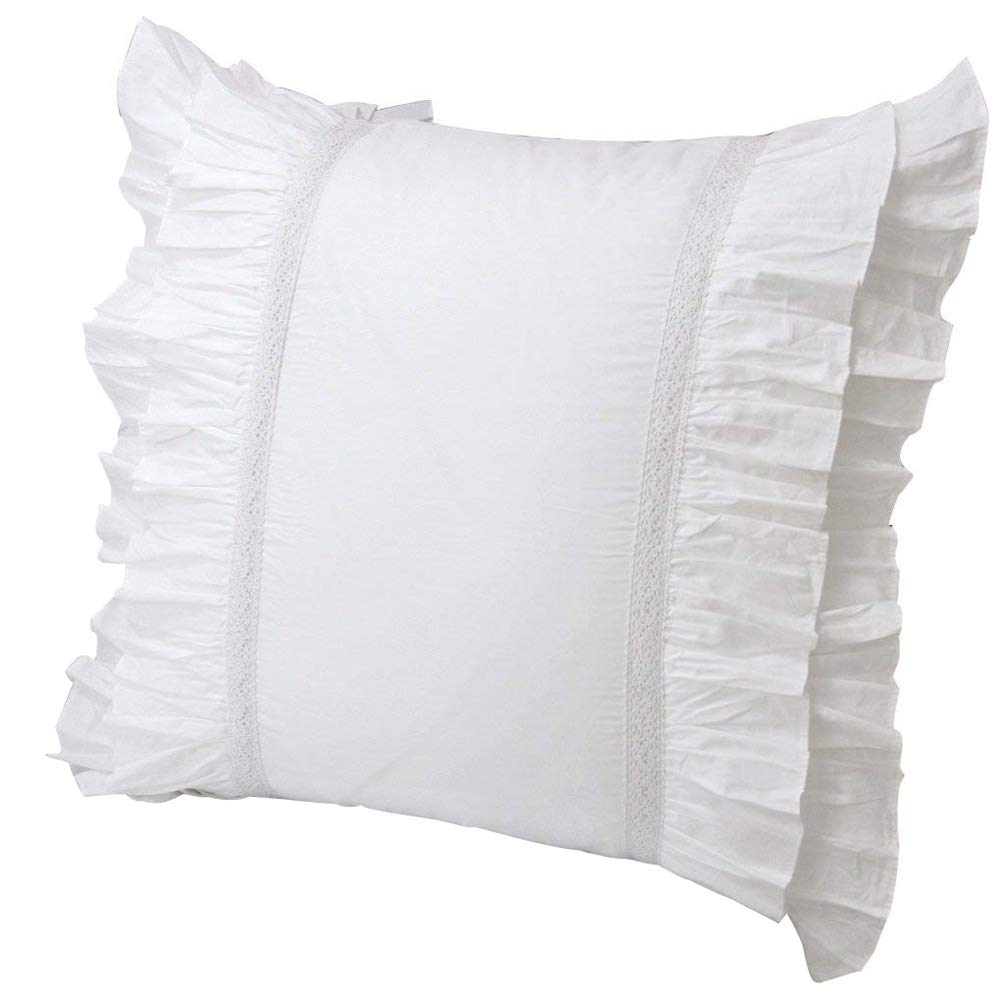 Queen's House Set of 2 White Euro Shams-Style L Queen's House 170825-shams-L-euro