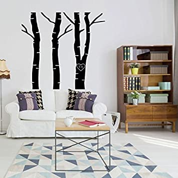 Amazon Enid545anne Tree Wall Decals With Carved Heart And