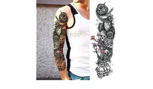 tzxdbh 5Pcs-Etiqueta engomada del Tatuaje Temporal a Prueba de ...