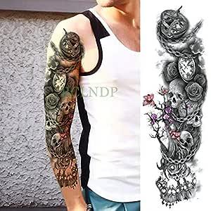 5Pcs-Waterproof Tattoo Stickers Rose Princess Flower Full Arm Body ...
