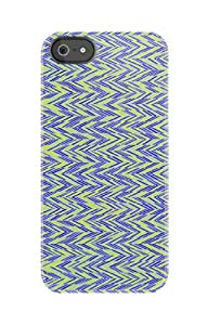 Uncommon LLC C0020-DT Zagged Blue Single Shot Deflector Hard Case for iPhone 5/5S - Retail Packaging - Blue/Yellow