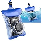 INSTEN Waterproof Camera Case with Rope, Blue