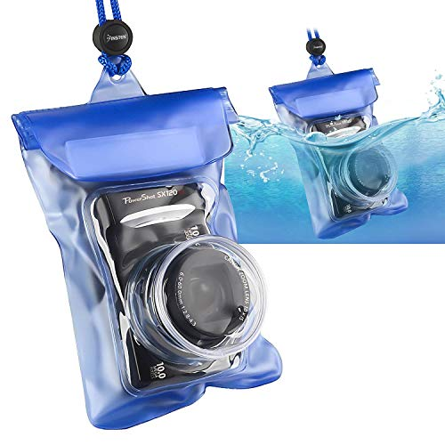 Insten Waterproof Camera Case with Rope, Blue ()