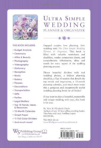 Ultra Simple Wedding Planner Organizer Alex A Lluch