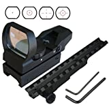 GRG Tactical 4 Reticle Red Dot Open Reflex Sight and Mauser K98 Scope Mount COMBO