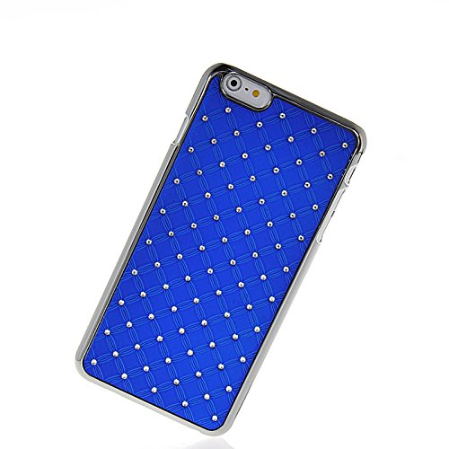 MOONCASE Chrome Bling Hard Shell Cover Housse Coque Etui Case Pour Apple iPhone 6 Plus Bleu