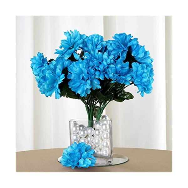 Efavormart 84 Artificial Chrysanthemum Mums Balls for DIY Wedding Bouquets Centerpieces Party Home Decoration Wholesale – Turquoise