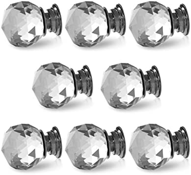 6x large glass Drawer Handles,chest Drawer Knob,crystal glass knobs