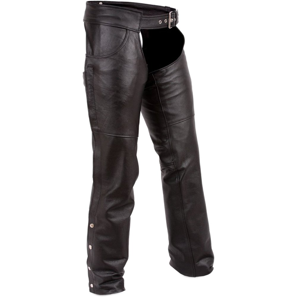 First Manufacturing Economy Chaps Especially Designed for Rallies and Swap Meets (Black, XXX-Large)