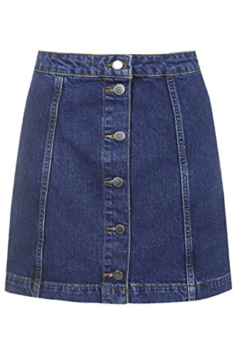 Button Front Denim Skirt: Amazon.com