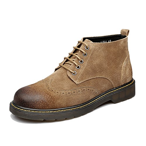 Männer hohe schuhe herbst und winter martin stiefel stiefel stiefel männer hohe schuhe leder männer kurze stiefel,gelb,39 e60208