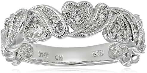 Multi Hearts Diamond Band (1/10 cttw, I-J Color, I2-I3 Clarity), Size 6